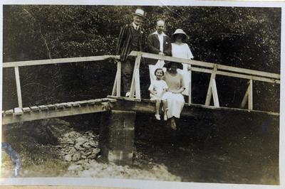 Unidentified people on a bridge; 2014/45.01.163