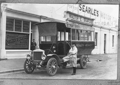 Searles Motors Bus outside Office