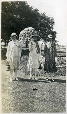 Three unidentified women