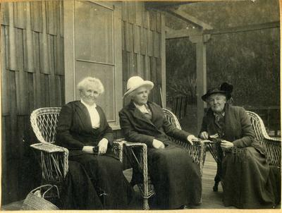 Three women on a veranda; 2014/45.01.200