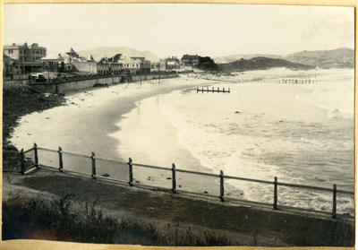 Seaside town, unidentified