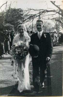 Wedding, people unidentified