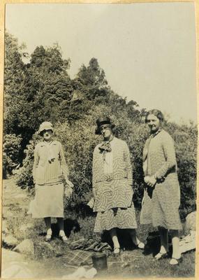Three women on a picnic