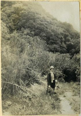 Woman in bush setting; 2014/45.01.229