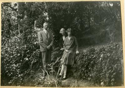Man and women in a garden