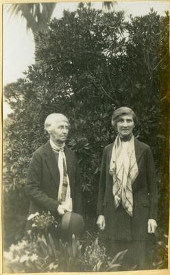 Two women in a garden; 2014/45.01.243