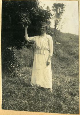 Woman in a garden; 2014/45.01.259