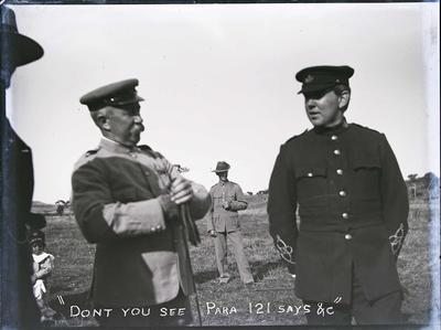 Unidentified men. Military Encampment c.1900
