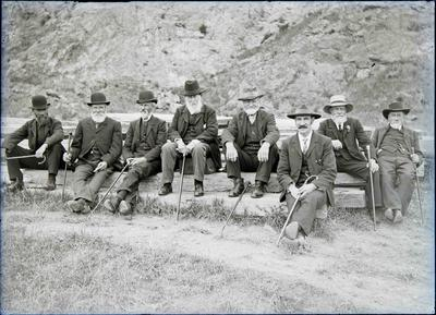 Mr Robertson, G Glen, E Lane, Mr Dickson, A Jardine, A Smith, J Waugh