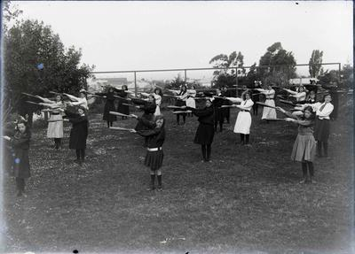 Dominican Convent Girls Exercising