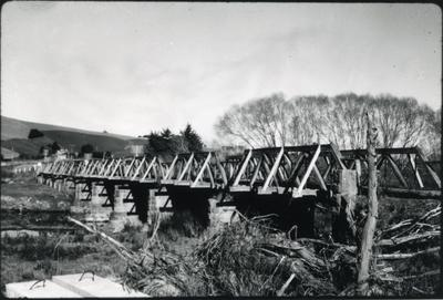 View of a rail bridge