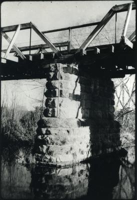 View of a bridge pile.