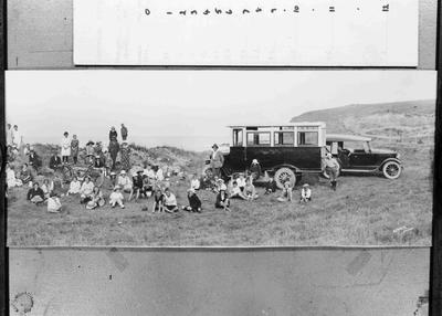 Picnic gathering, All Day Bay, c. 1915.