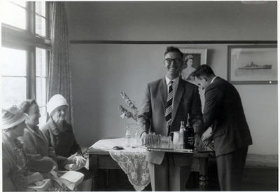 Mrs C. Beel, Mrs C. Matheson, N. T. Farrell, W. Bevis at an afternoon tea.