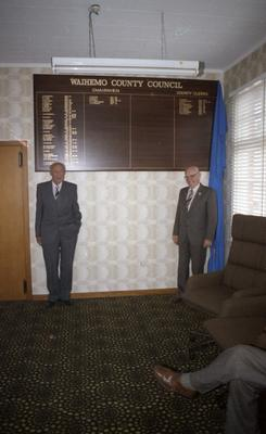 Unveiling the Honours Board in the Waihemo County Council building
