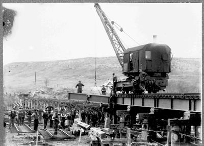 Railway construction, 1912.
