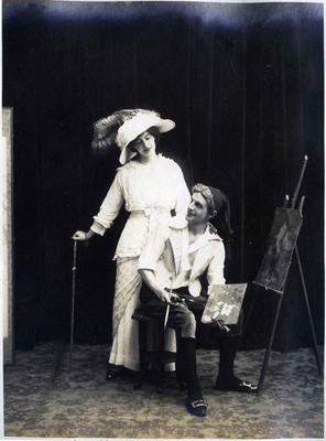 "Alfred (Bob) Leslie and unidentified woman in the production  ""My Sweetheart"".; 2014/43.1.29"