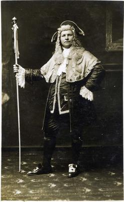 "A H Mackrell in Oamaru Amateur Operatic Society production of ""Les cloches de Corneville""."