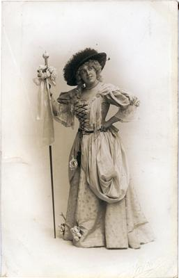 "Mrs John Fraser in Oamaru Amateur Operatic Society production of ""Les cloches de Corneville""."