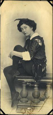 Signed photograph of Lizette Parkes as Peter Pan; May Moore (estab. Circa 1907, closed 1928); 2014/43.1.51