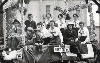 Post Office Savings Bank staff on parade float; 2014/43.1.60