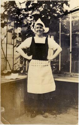 Woman dressed in Dutch costume