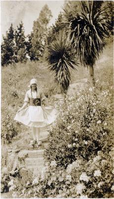 Girl dressed in Dutch costume