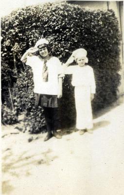 Children in sailor's costumes; 2014/43.1.98