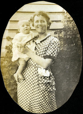 Woman and baby, unidentified