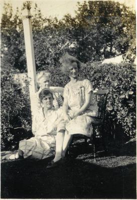 Three women in a garden; 2014/43.1.132