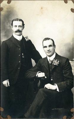 Portrait of two men, unidentified; 2014/43.1.136