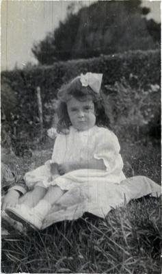 Girl in a garden, unidentified; 2014/43.1.146
