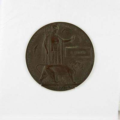 Memorial Plaque (medallion)