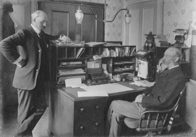 J Patterson, accountant, W W Beswick Chief Postmaster, Oamaru Post Office; P0027.51.5