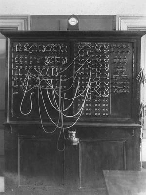 New (telegraph) test board, Oamaru Post Office; P0027.51.15