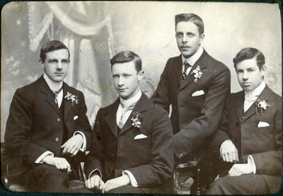 Alfred Leslie, H Valentine, E Moyle and D Brown.
