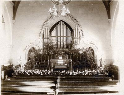 St. Paul's Presbyterian Church Oamaru, interior; 2014/43.2.76