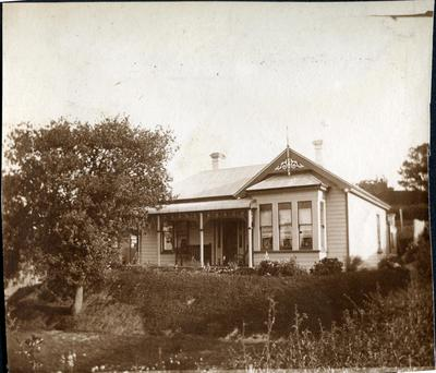 Wooden house, location unidentified