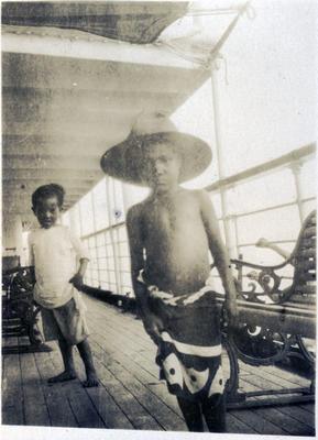 Boys on a boat, Fiji; Macfie, Robert; 2014/43.2.112