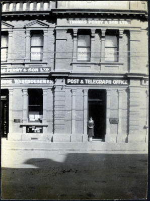Woman at the Post and Telegraph Office