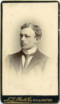 Studio portrait unidentified man