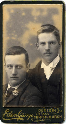 Studio portrait unidentified men