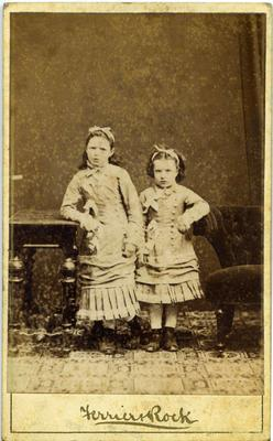 Studio portrait unidentified girls
