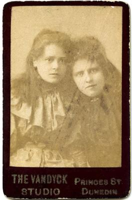 Studio portrait unidentified women