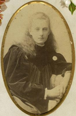 Studio portrait unidentified woman