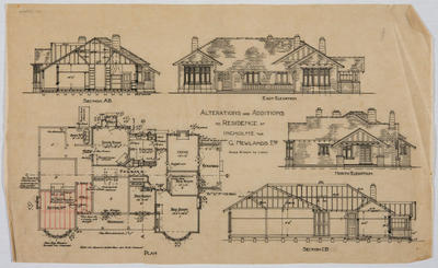 Alterations and Additions to Residence at Incholme for G. Newlands, Esq
