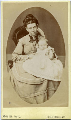 Mrs Jane McLeay and baby