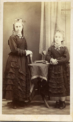 Two young unidentified girls