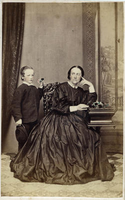 Unidentified woman and boy.