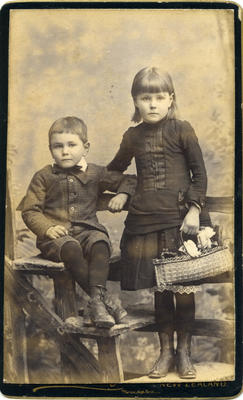 Unidentified girl and boy